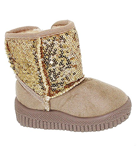 Toddler Sparkly and Sassy Sequin Bootie, ,GOLD, SIZE 10 US