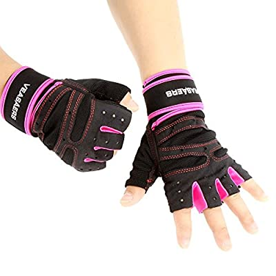 Lixada Unisex Sports Fitness Exercise Training Gym Half Finger Gloves Wrist Wrap for Men Women Sweat Absorption Friction Resistance from Lixada