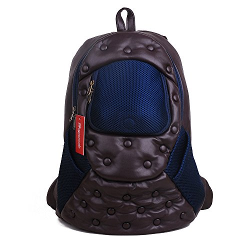 Dogismile Pet Outdoor Faux Lambskin Backpack Cat Comfort Travel Bag Dog Carrier Durable and Breathable Cute (Brown)