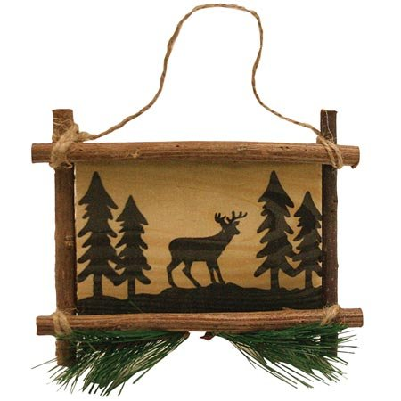 Deer Wooden Sign Collectible Hanging Ornament, 5-inch kurt adler 4 1 2 inch noble gems glass toaster ornament