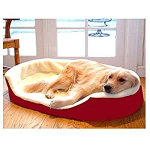Majestic Pet 28-Inch by 21-Inch Lounger Pet Bed Medium, Red