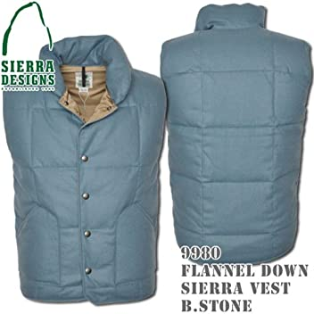 Flannel Down Sierra Vest 9980: Blue Stone
