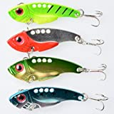 Hengjia 20pcs/lot Metal VIB Fishing Lure Crankbait Bass Hard Baits Blade Lure Sinking Vib for Saltwater5.5cm/2.17