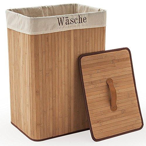Wäschekorb aus Bambus, 70 Liter