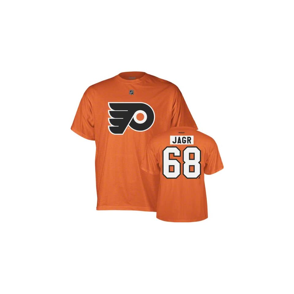 3db672aa6 Philadelphia Flyers Jaromir Jagr Orange Reebok T Shirt on PopScreen