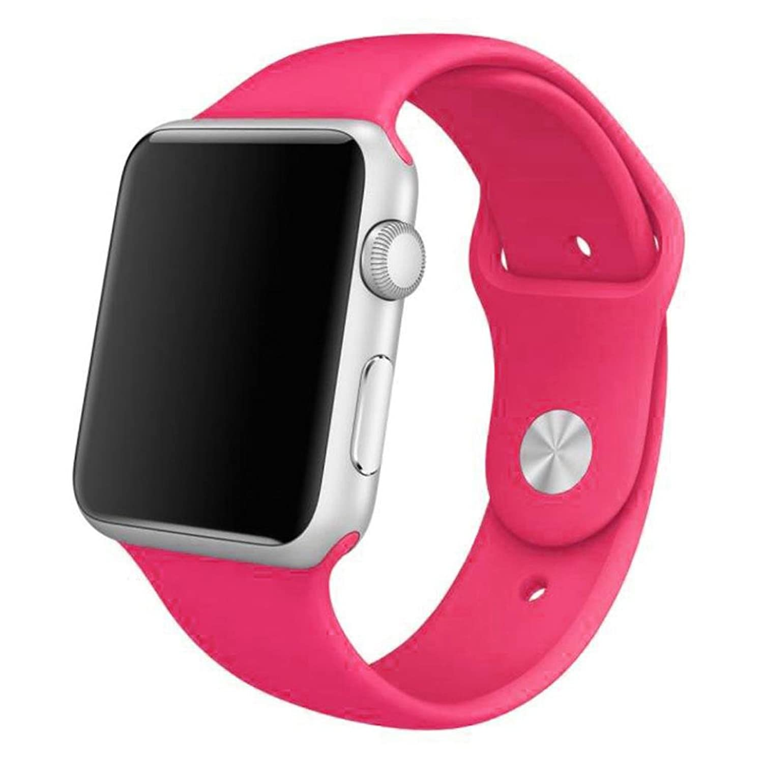 GBSELL New Sports Silicone Bracelet Strap Band For Apple Watch 38mm Hot Pink