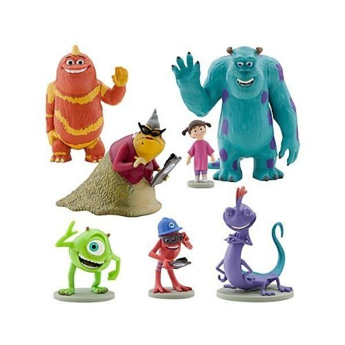 Disney Monsters Inc. Figure Play Set 7 Piece PVC Cake Topper (Monster Inc Figures compare prices)