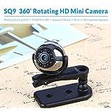 SQ9 DVR vedioe recorder camera 1080P HD Digital DVR Camera 360 Degree Rotation Infrared Night Motion Detection Voice Video Recorder