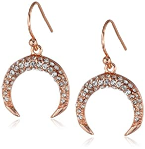 Vince Camuto Fish Hook Pave Drop Earrings