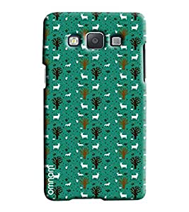 Omnam Deer And Tree Love Printed Designer Back Cover Case For Samsung Galaxy A5