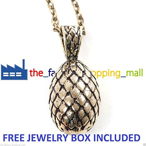 Inspired By Game of Thrones Dragon EGG Pendant Necklace Daenerys Targaryen GOT + FREE JEWELRY BOX