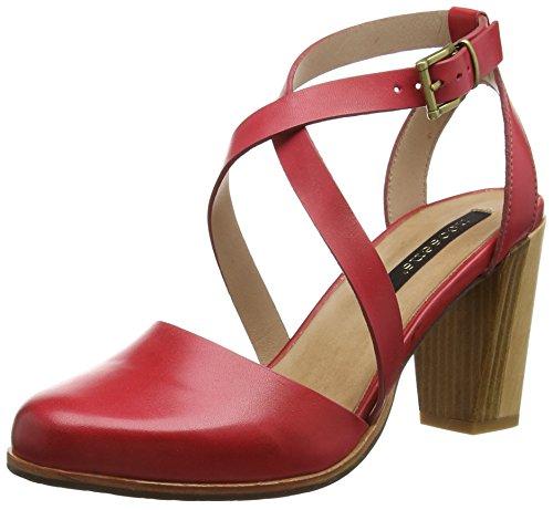NeosensGLORIA - Sandali con Cinturino alla Caviglia Donna , Rosso (Rot (SCARLET)), 40