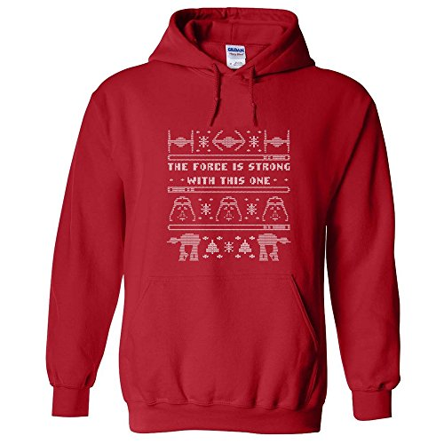 STAR WARS UGLY CHRISTMAS SWEATER FUNNY DARTH VADER ATAT GIFT HOODIE SWEATSHIRT