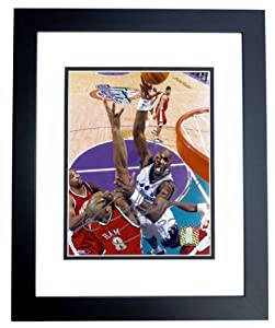 Karl Malone Autographed Hand Signed Utah Jazz 8x10 Photo - BLACK CUSTOM FRAME by Real Deal Memorabilia