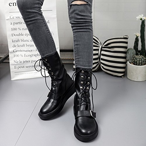 GGH Signore lavoro confortevole slittamento sui fannulloni delle donne scarpe casual Black,39