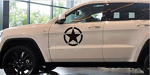 US Army Military Star Car Sticker Decal for Jeep Grand Cherokee, Wrangler, Renegade, Compass, Patriot, CRV, SUV, Minivan(11.5