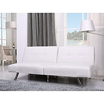 Gold Sparrow Jacksonville White Foldable Futon Sofa Bed