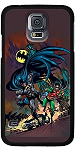Coveroo Thinshield Cell Phone Case for Samsung Galaxy S5 - Retail Packaging - Batman & Robin Running at Gotham City Store