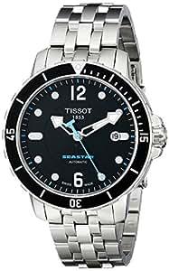 Tissot Men's T0664071105700 SeaStar Black Automatic Dial Watch