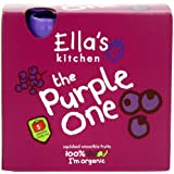 Ella's Kitchen The Purple One Organic Smoothie Fruits Multipack 5 x 90 g (Pack of 6, Total 30 Packets)