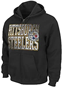 Pittsburgh Steelers Touchback V Mens Full-Zip Hoody Sweatshirt by VF by VF