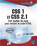 echange, troc Luc Van Lancker - CSS 1 et CSS 2.1 : Des feuilles de style pour enrichir le code HTML