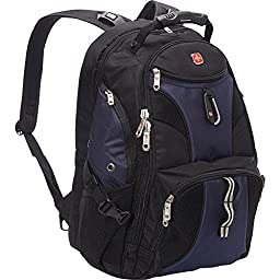 SwissGear Travel Gear ScanSmart Backpack 1900- eBags Exclusive (Black/Blue)