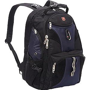 SwissGear Travel Gear ScanSmart Backpack 1900 (Black/Blue EXCLUSIVE COLOR)