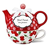 Friendship Gift - Good Friends are Forever Tea for One Teapot Set