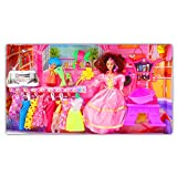 Beautiful Kids Toys With Trendy Dresses Like Barbie Doll Set Toy Baby Gift - 75