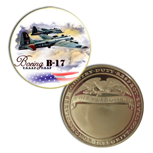 USAAF B-17 Flying Fortress Printed Challeng Coin