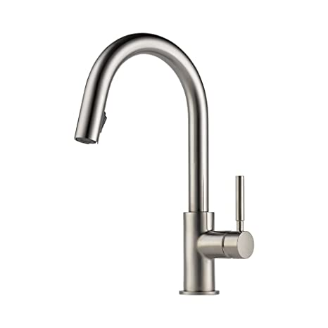 Brizo 63020LF-SS Solna Kitchen Faucet with Pullout Spray, Stainless Steel