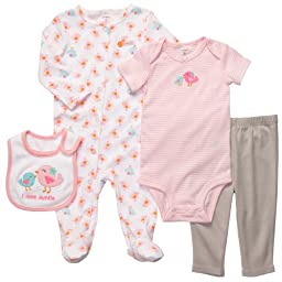 Carter\'s 4-pc. I Love Auntie Cuddle Me Layette Set PINK MULTI Newborn