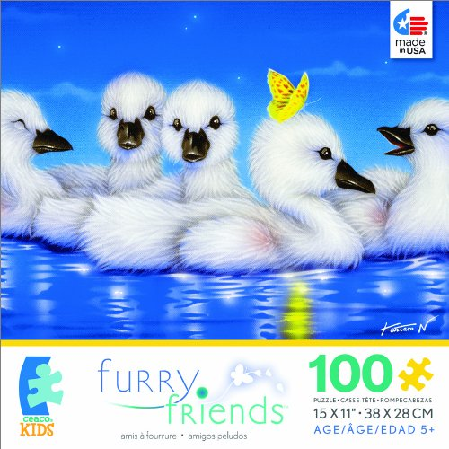 Furry Friends White Angel Jigsaw Puzzle