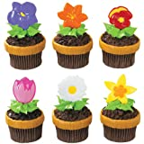 Blooming Flowers Party Picks Party Accessory