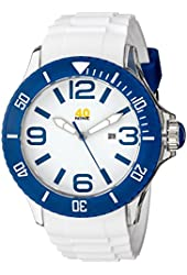 40Nine Men's 40NINE01/BLUE3 Extra Large 50mm Analog Display Japanese Quartz White Watch