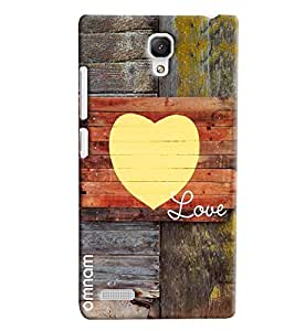 Omnam Love Painted On Acient Wood Designer Back Cover Case for Xiaomi Redmi Note Prime