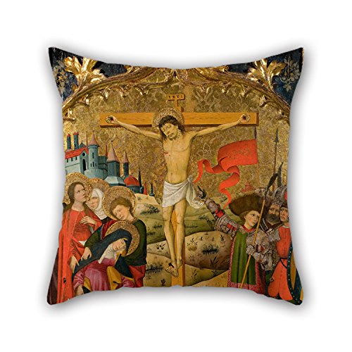 Artistdecor Pillowcover 20 X 20 Inches / 50 By 50 Cm(two Sides) Nice Choice For Divan,indoor,dining Room,car Seat,shop,couples Oil Painting Master Of Saint John And Saint Stephen - Calvary