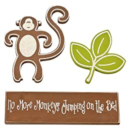 Product Image No More Monkey's Jumping On The Bed Wall Décor 3pk by Twelve Timbers