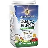 Sunwarrior Warrior Blend Raw Vegan Protein Powder, Vanilla 2.2 lbs