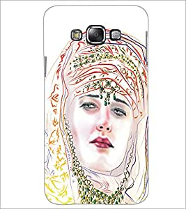 PrintDhaba Painted Girl D-5320 Back Case Cover for SAMSUNG GALAXY A7 (Multi-Coloured)