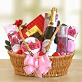 Rose Floral Spa Gift Basket | Valentines Day Gift for Her