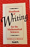 img - for Handbook of Writing for the Mathematical Sciences by Higham, Nicholas J. (1993) Paperback book / textbook / text book