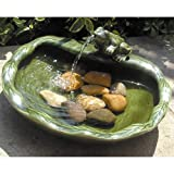 Smart Solar Ceramic Frog Solar Bird Bath Fountain