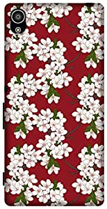The Racoon Grip Cherry Flowers hard plastic printed back case / cover for Sony Xperia Z5