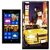 Yellow Taxi Cab in New York Times Square USA Hard Case Clip On Back Cover For Nokia Lumia 925