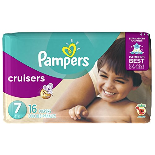 Pampers Cruisers Diapers - Size 7 - 16 ct - 1