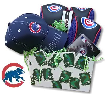 Chicago Cubs Golf Gift Basket