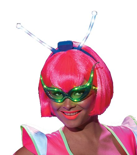 Rubie's Costume Alien Raver Wig With Led Boppers