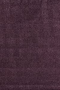 positive impulse teppich bilbao aubergine 160x230 hochflorteppich b ro teppich. Black Bedroom Furniture Sets. Home Design Ideas